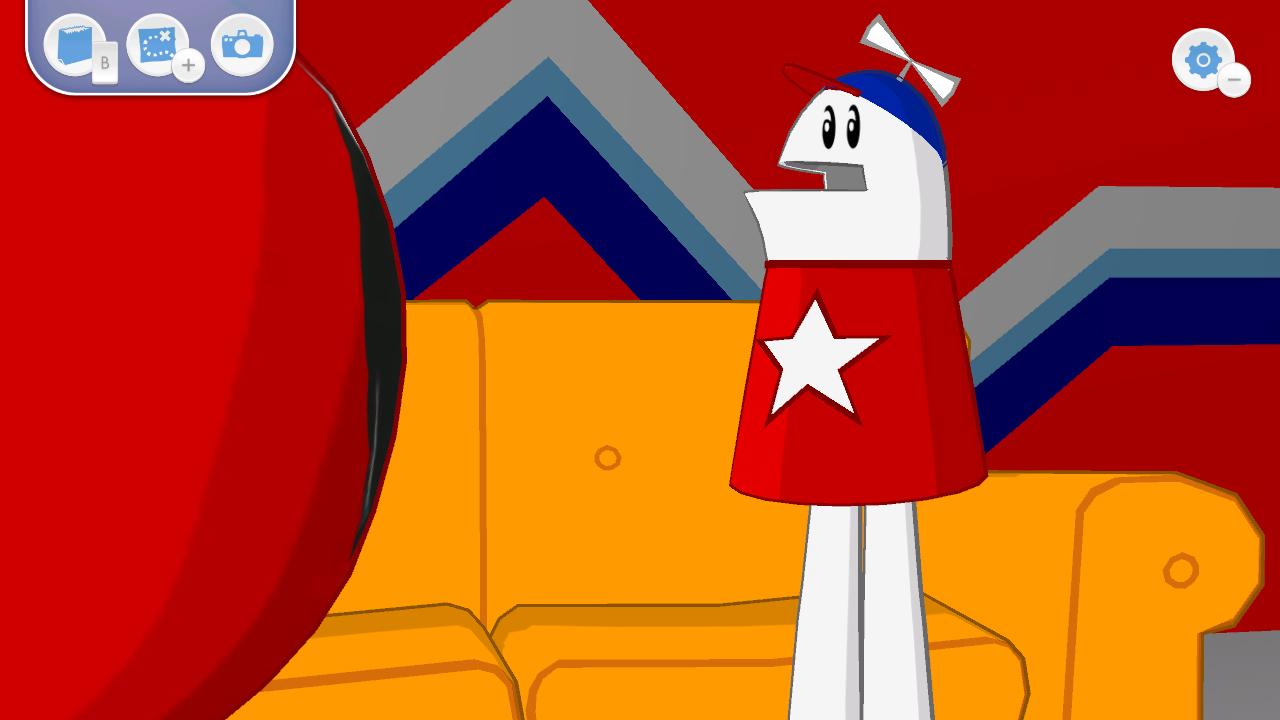 Strong Bad talks with Homestar