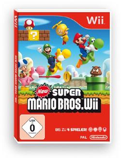 New Super Mario Bros. Wii PAL box art