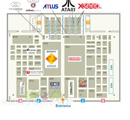 E3 2010 The Floor Map Siliconera