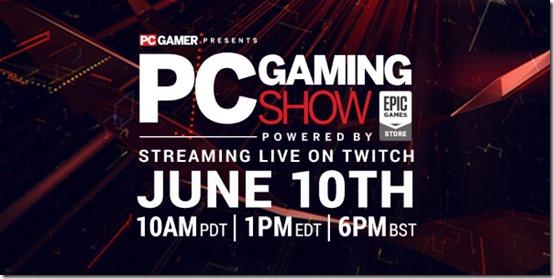 e3 2019 pc gaming show 2019
