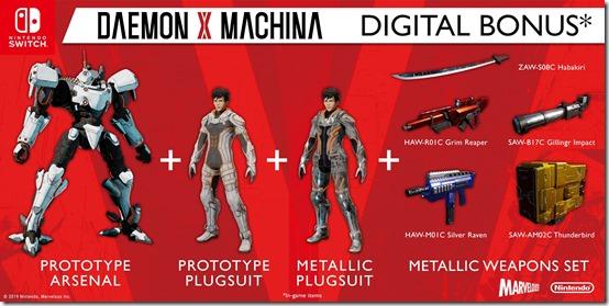 daemon x machina preorder bonus