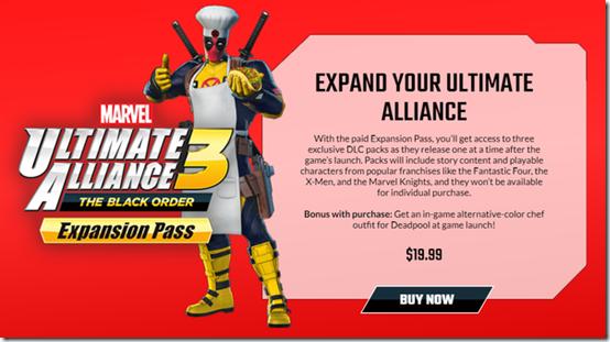 marvel ultimate alliance 3 dlc
