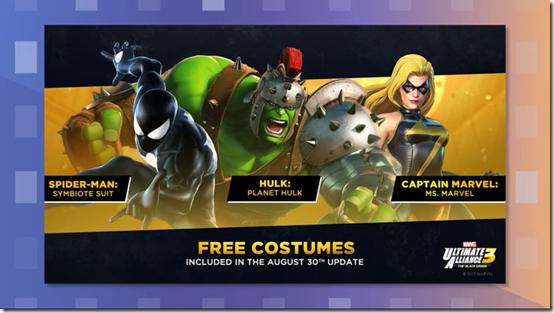 free marvel ultimate alliance 3 costumes