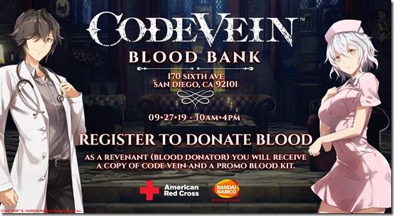 free code vein twitchcon blood drive