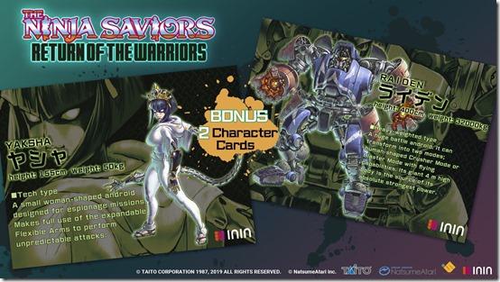 the ninja saviors return of the warriors character cards