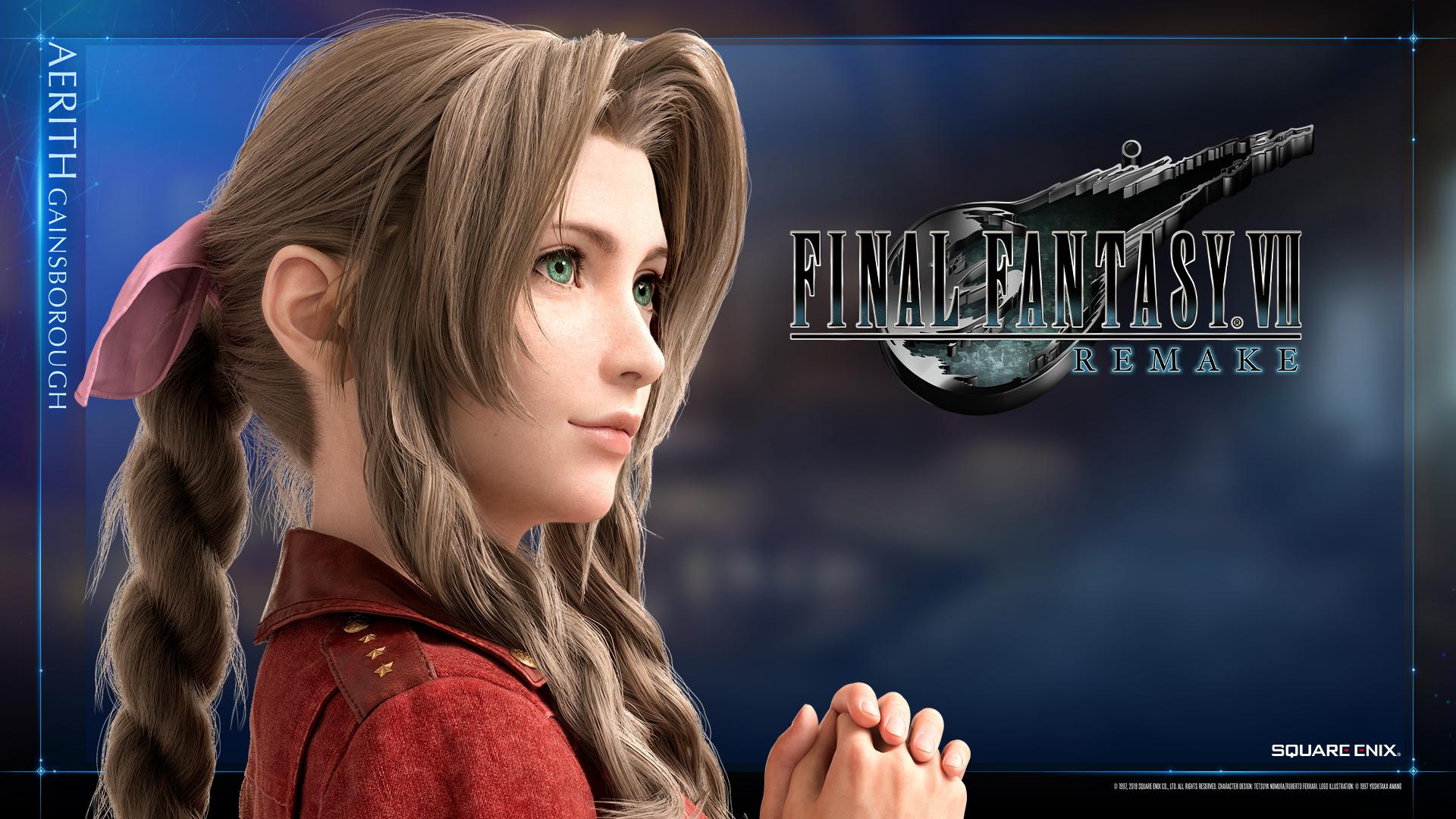 Final Fantasy VII Remake Wallpaper Aerith Tifa Siliconera 2
