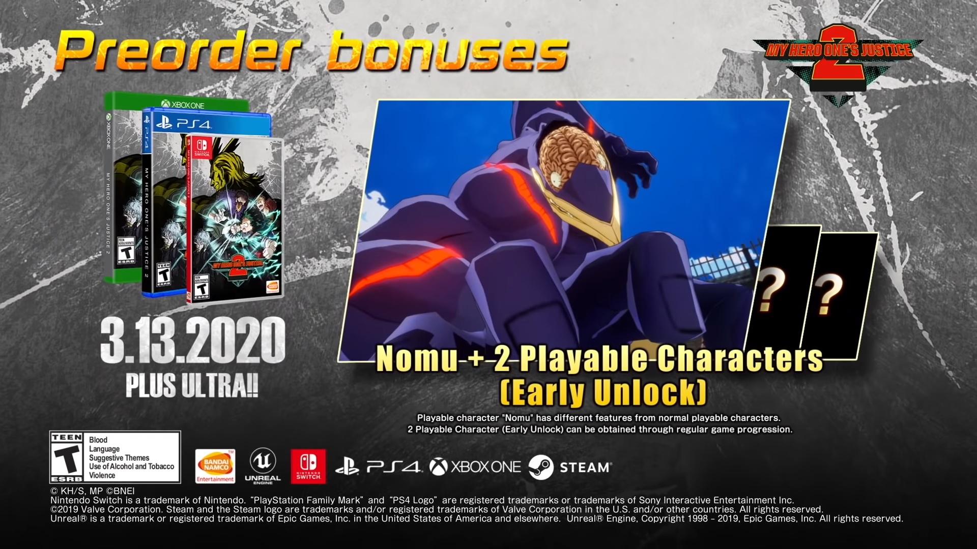 my hero ones justice 2 collectors edition nomu