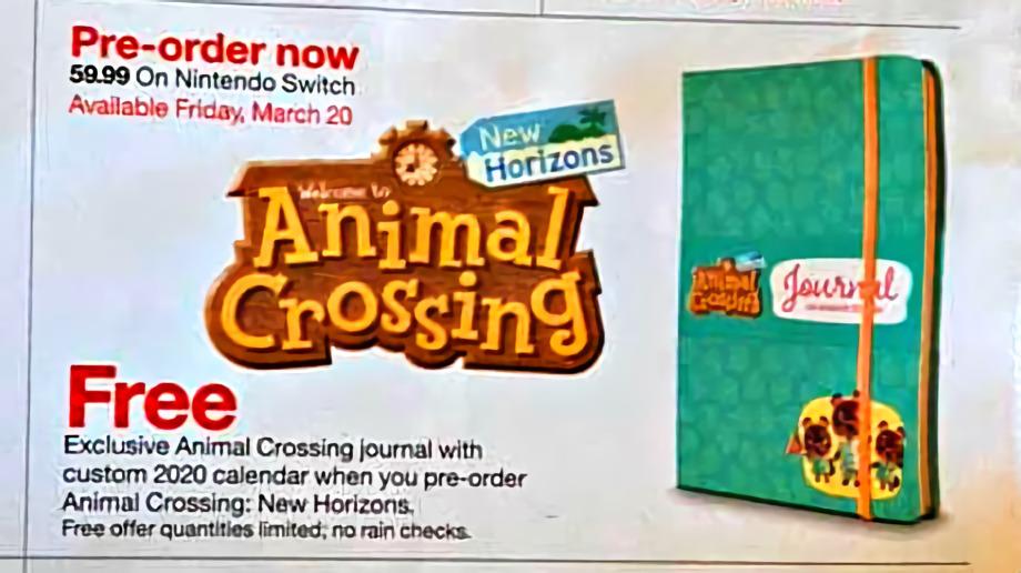 animal crossing new horizons preorder