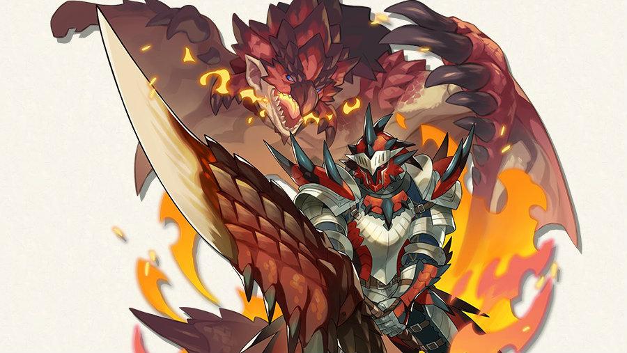 dragalia lost monster hunter rathalos armor set hunter berserker 1