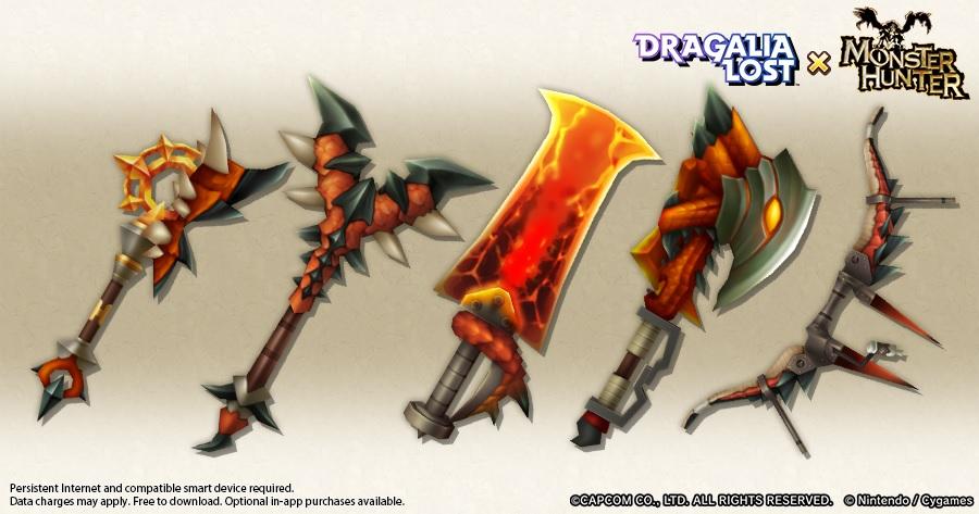 Five Dragalia Lost Rathalos Weapons Teased
