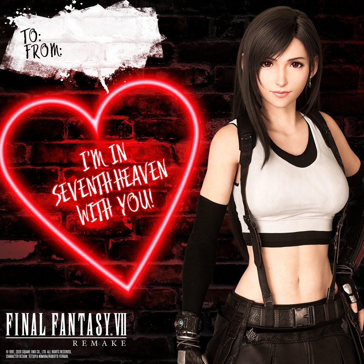 FF7 Remake Valentine's Day Cards