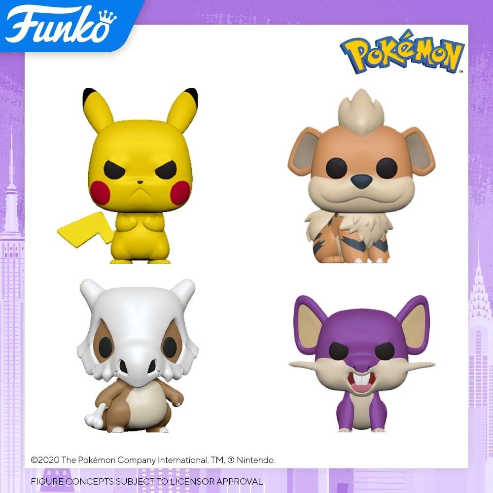 funko pop pokemon pikachu growlithe ratata cubone