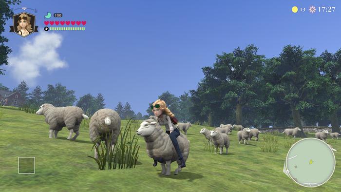 The Good Life sheep riding