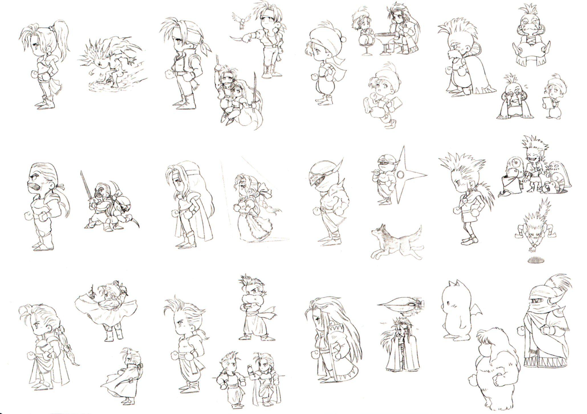 Final Fantasy VI Character Designs