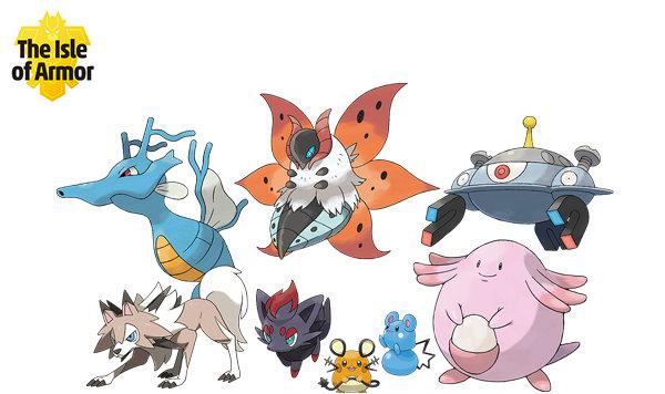 isle of armor pokemon list
