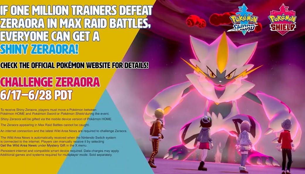 pokemon sword and shield zeraora shiny zeraora
