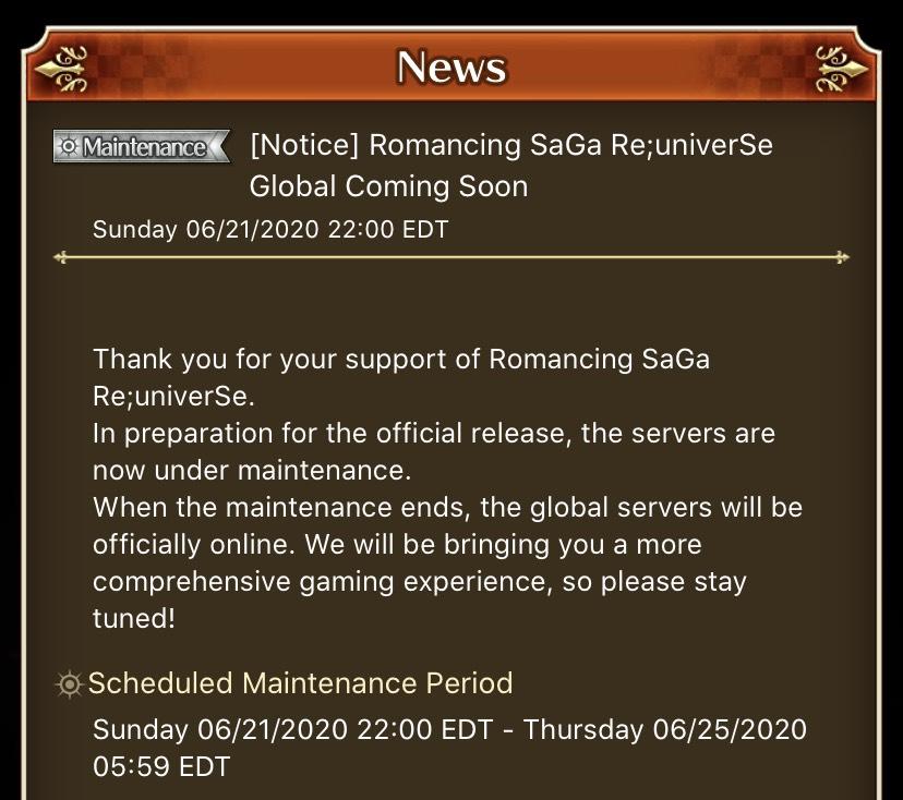romancing saga reuniverse release date global