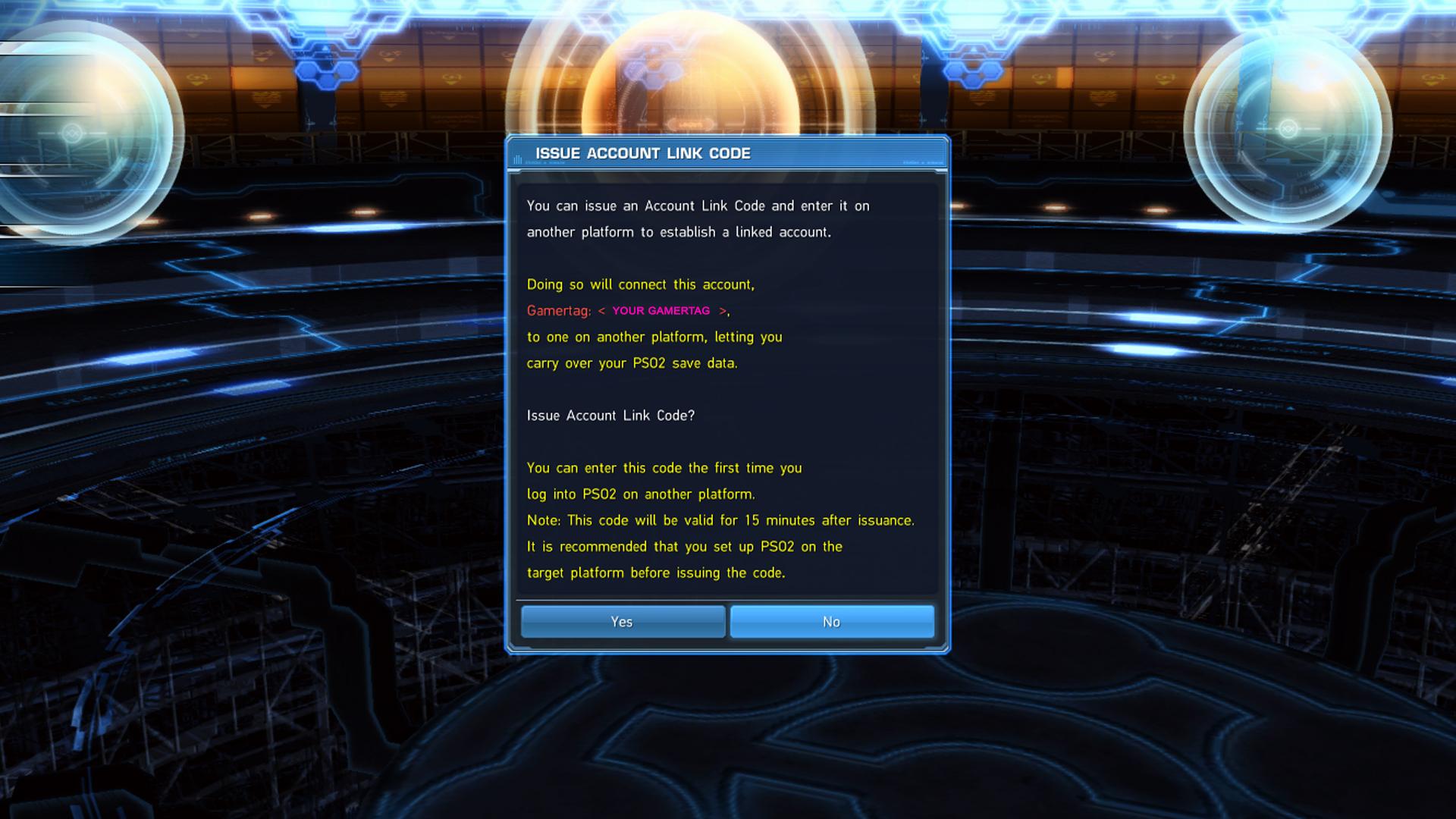 Phantasy Star Online 2 Link Account