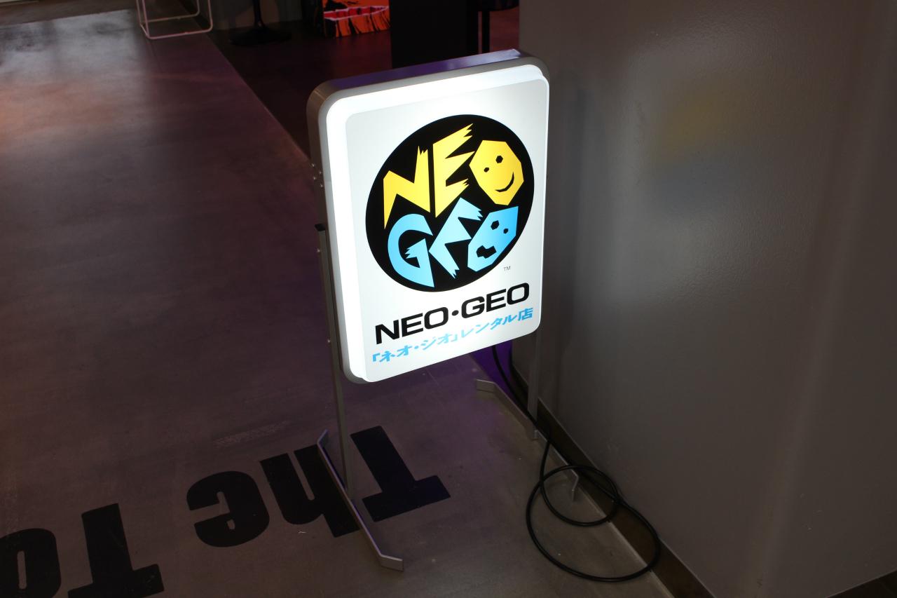 NeoGeo Rental sign