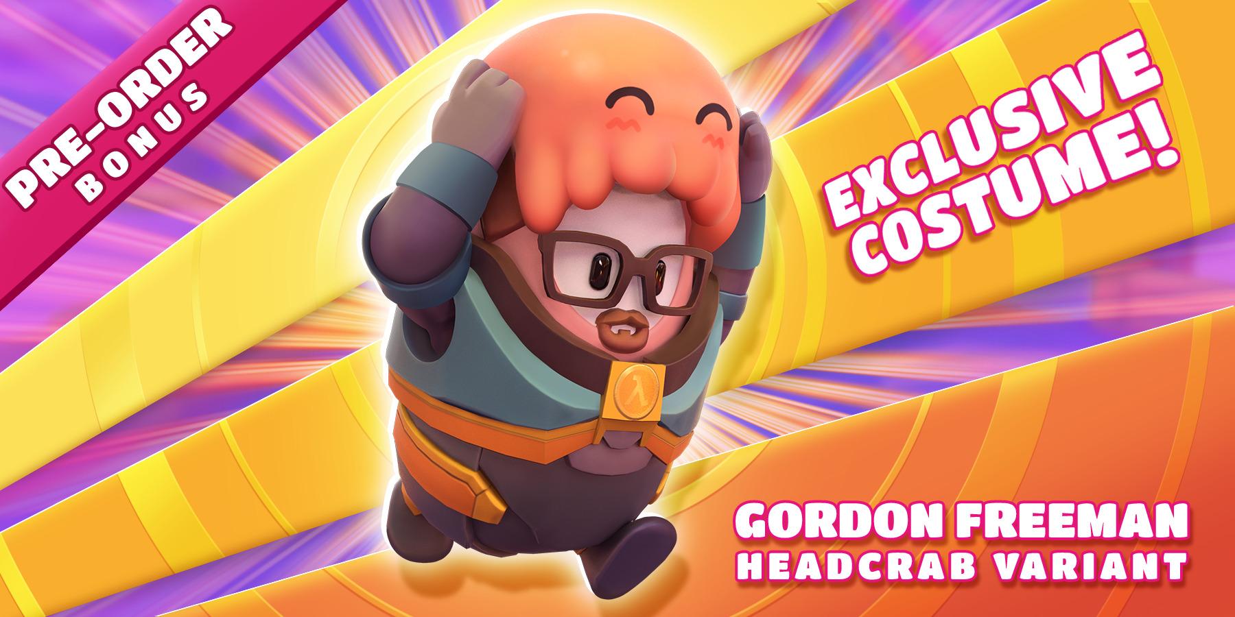 fall guys crossover skin gordon freeman headcrab