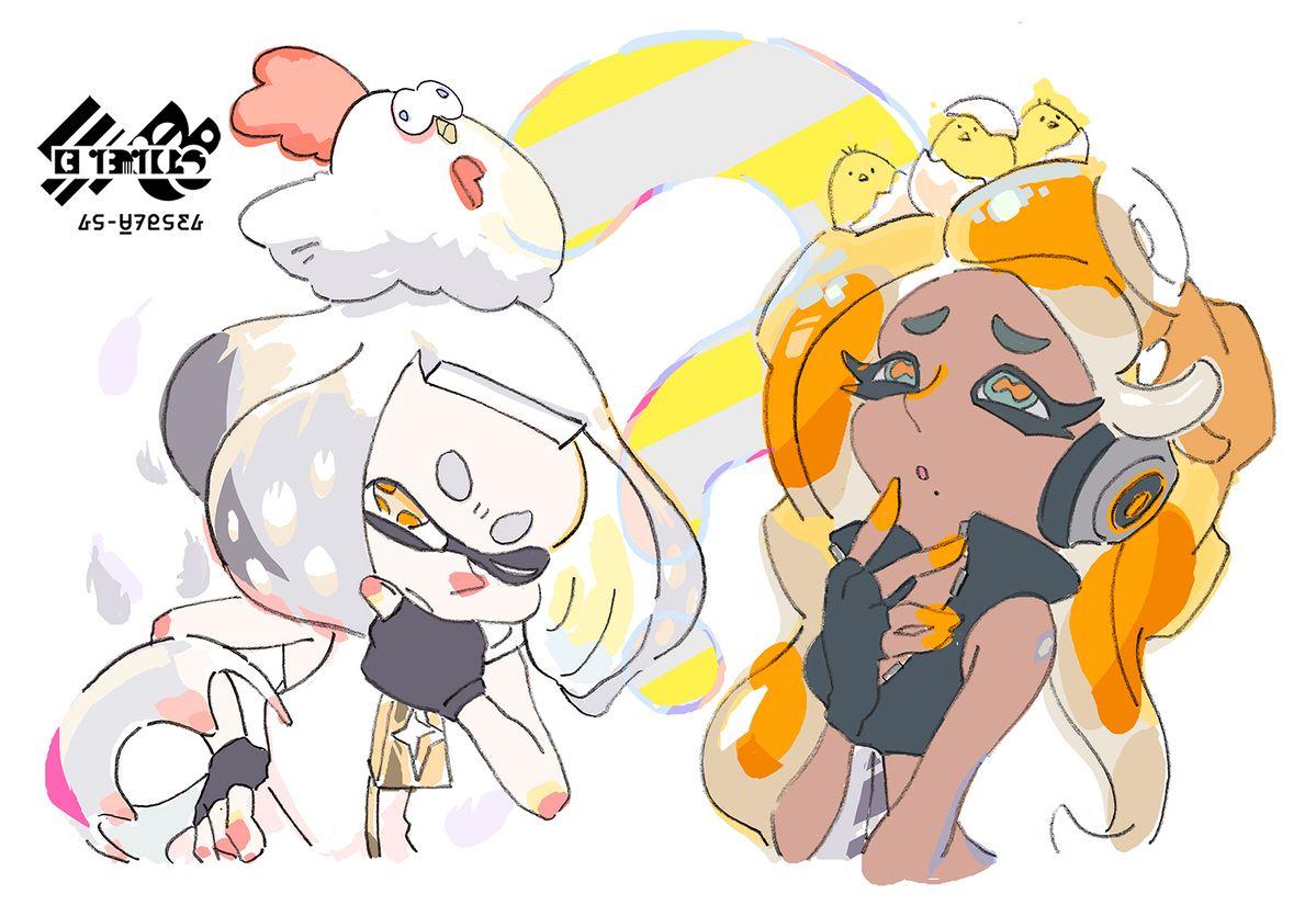 splatoon 2 splatfest chicken egg splatfest art