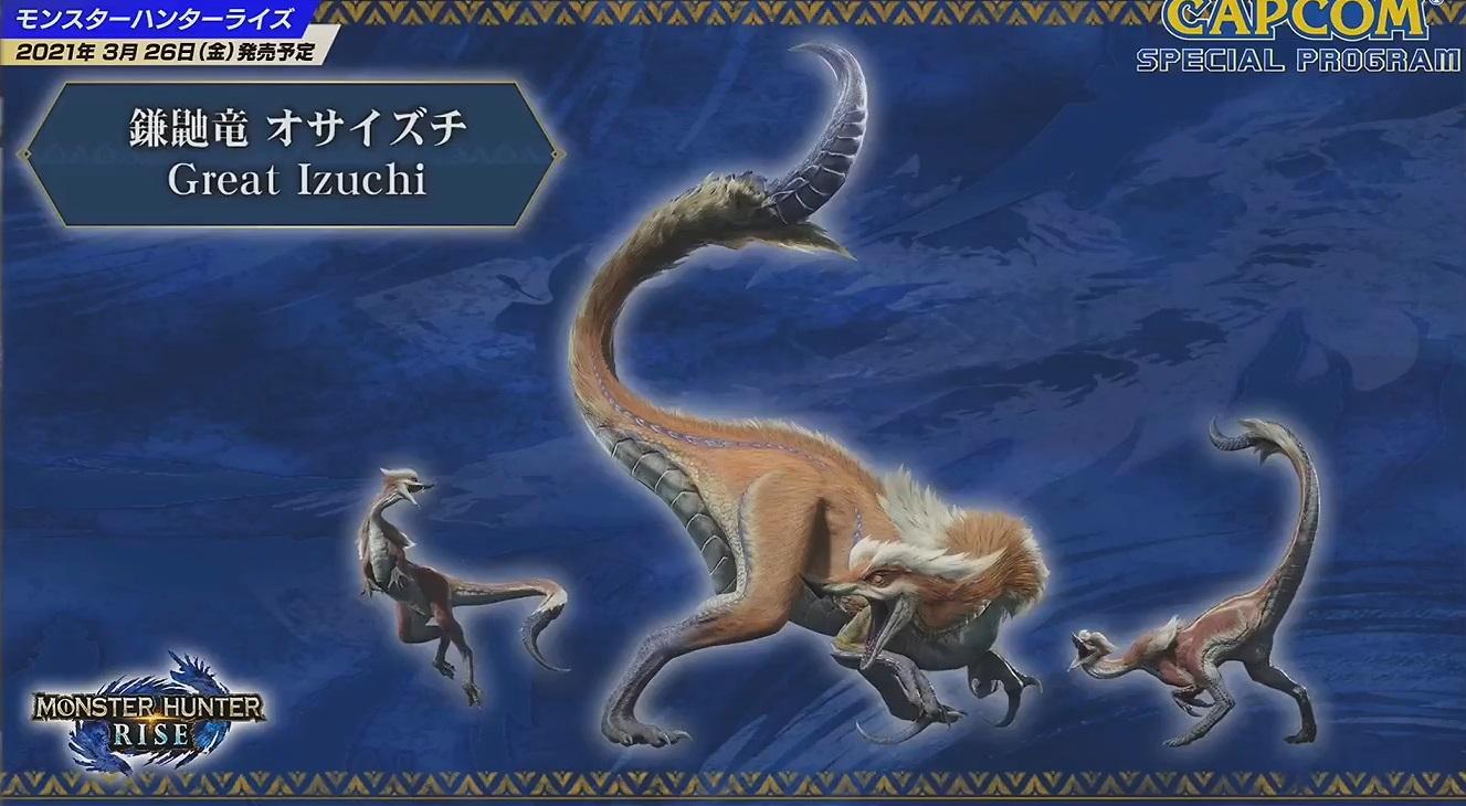 monster hunter rise new monsters great izuchi