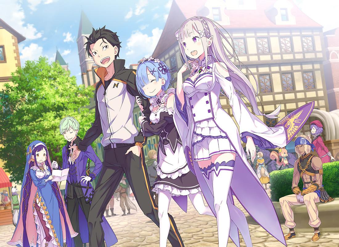 rezero prophecy of the throne key art