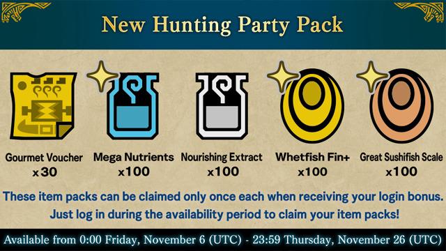 Monster Hunter World Iceborne New Hunting Party Pack