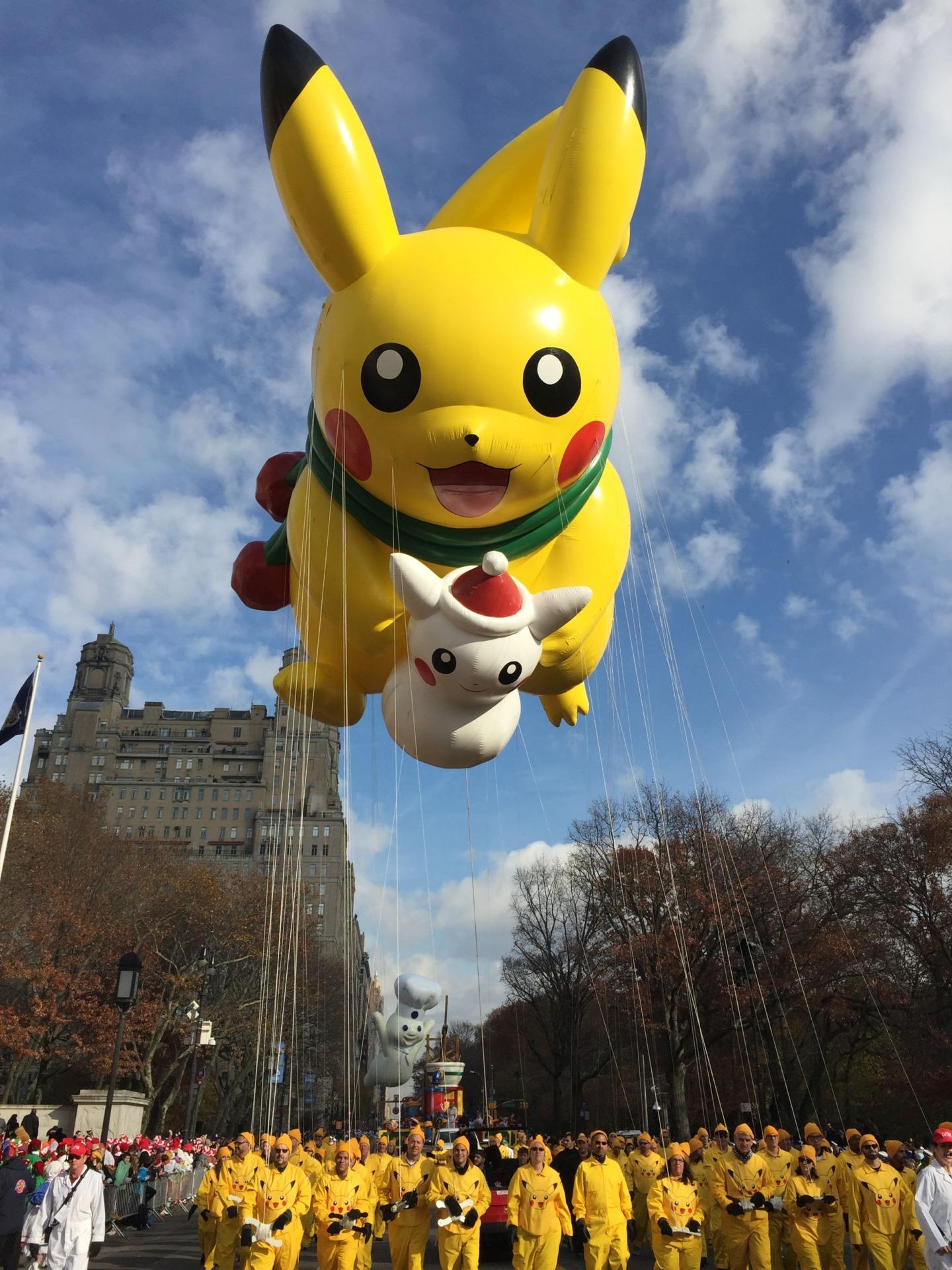 pikachu macy's parade pikachu pokemon balloon