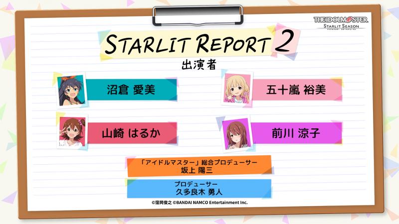 The Idolmaster Starlit Season stream on January 17 2021