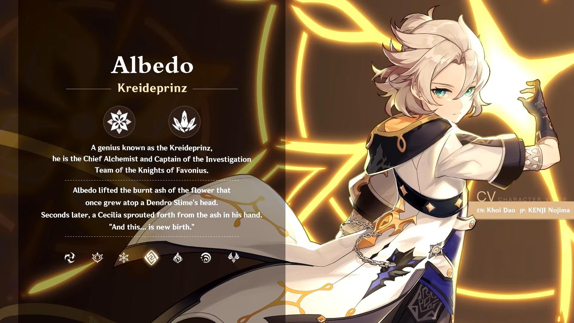 genshin impact 1.2 albedo