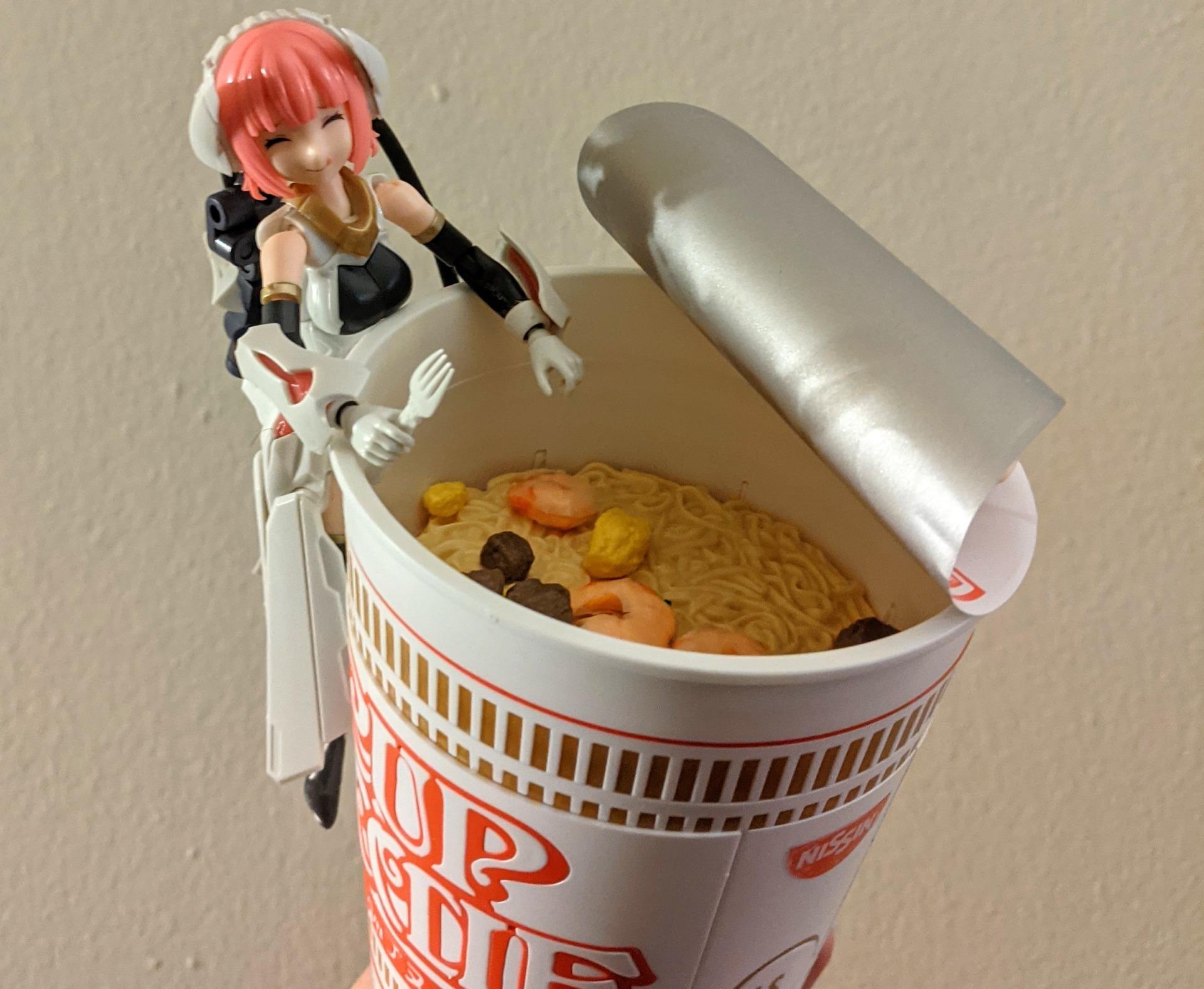 Cup Noodle model kit