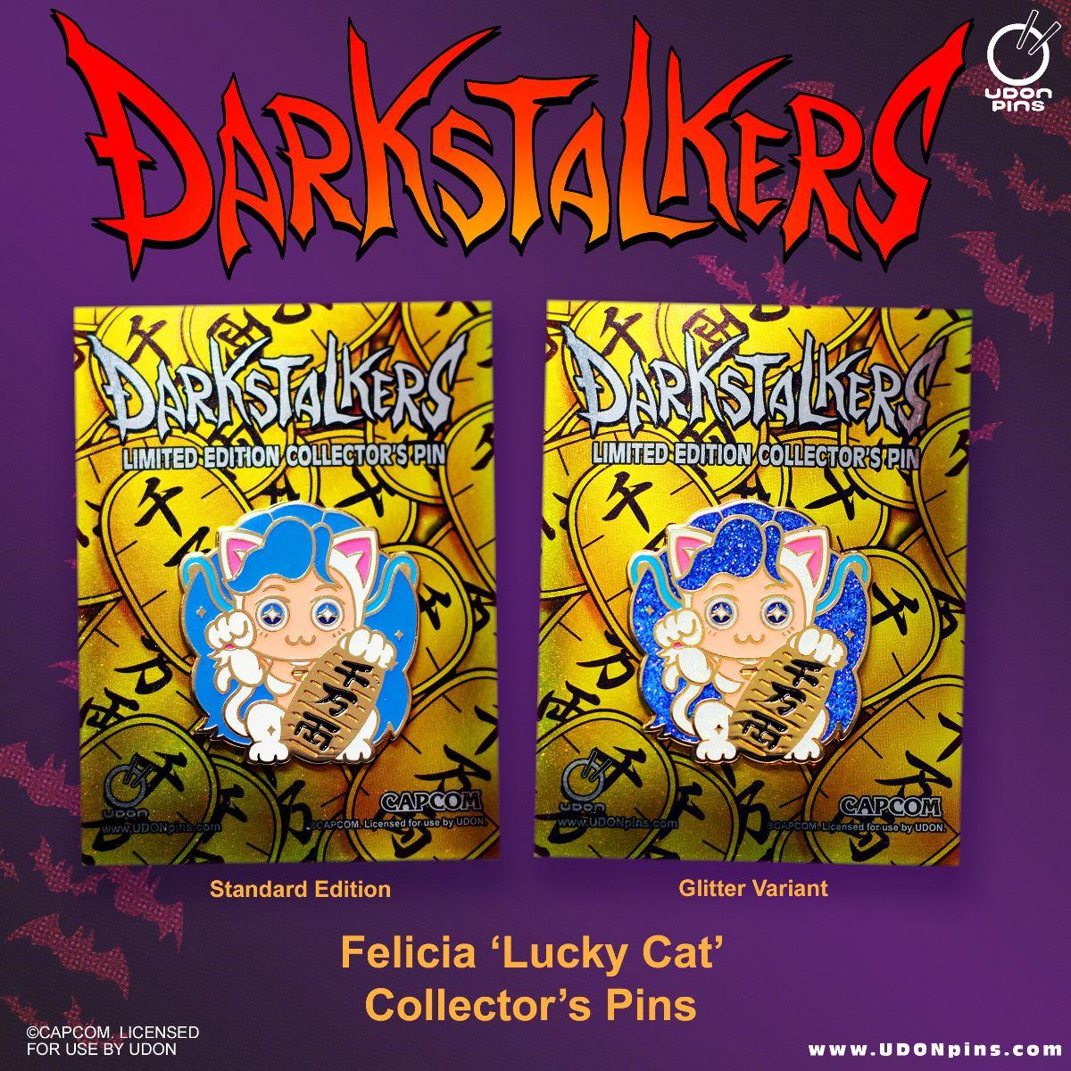 darkstalkers lucky felicia pins