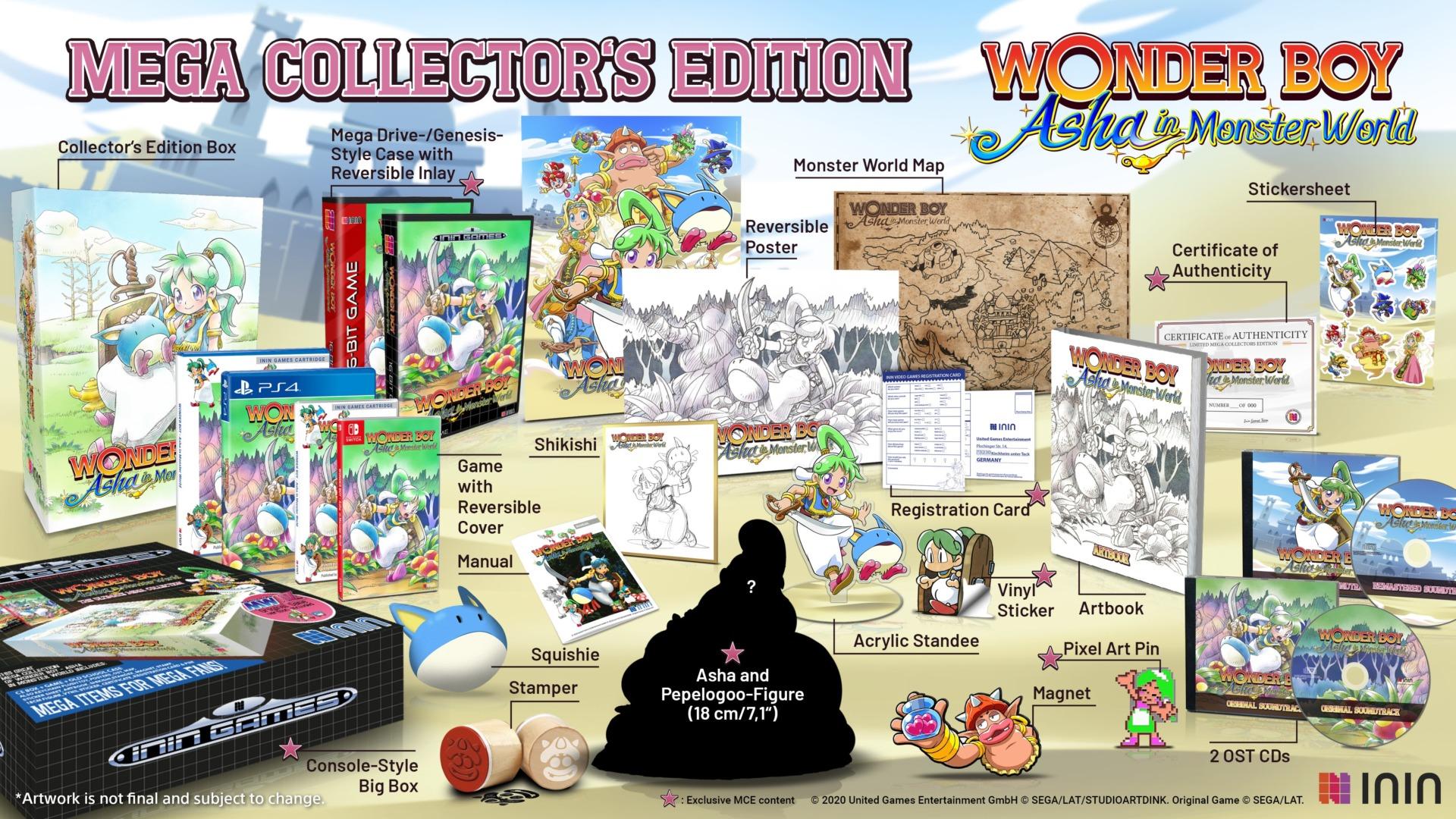 wonder boy asha in monster world remake le
