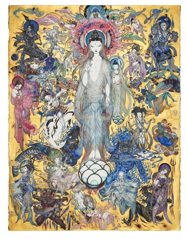 Yoshitaka Amano Illustration Chiba Nichiren