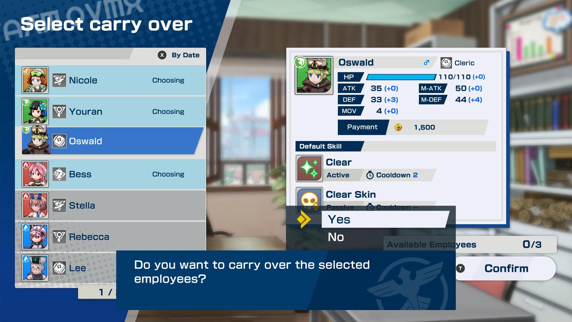 shachibato menu screen
