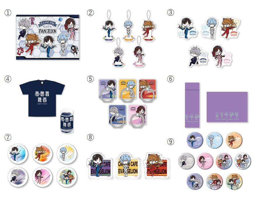 Evangelion full merchandise list at Capcom Cafe