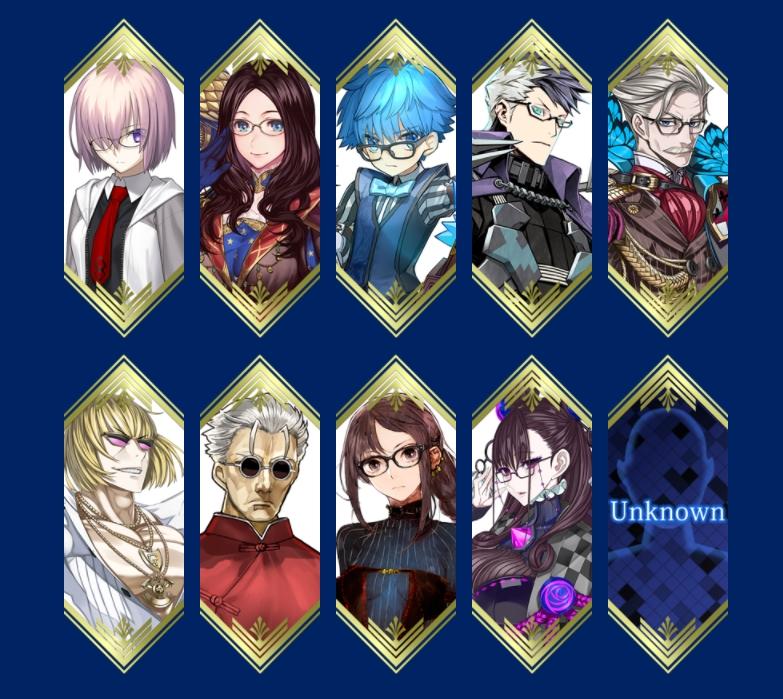 Fate Grand Order Glasses Lineup