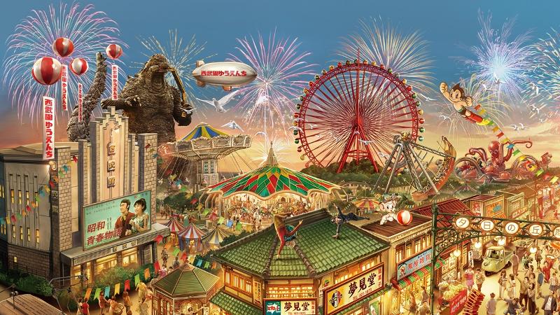 Seibuen Amusement Park will add Godzilla and Astro Boy attractions