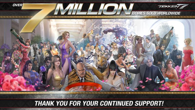 Tekken 7 has over 7 million copies sold