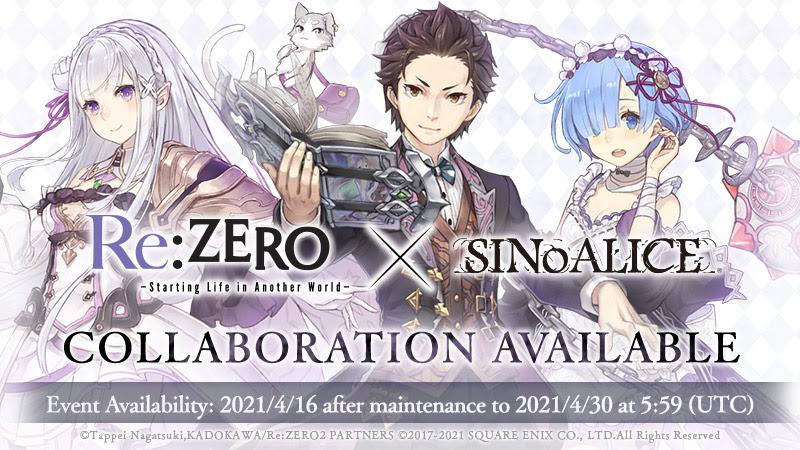 sinoalice rezero collab