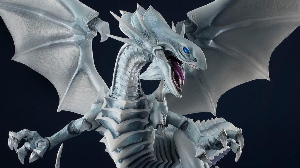 yu gi oh art works monsters figure blue-eyes white dragon