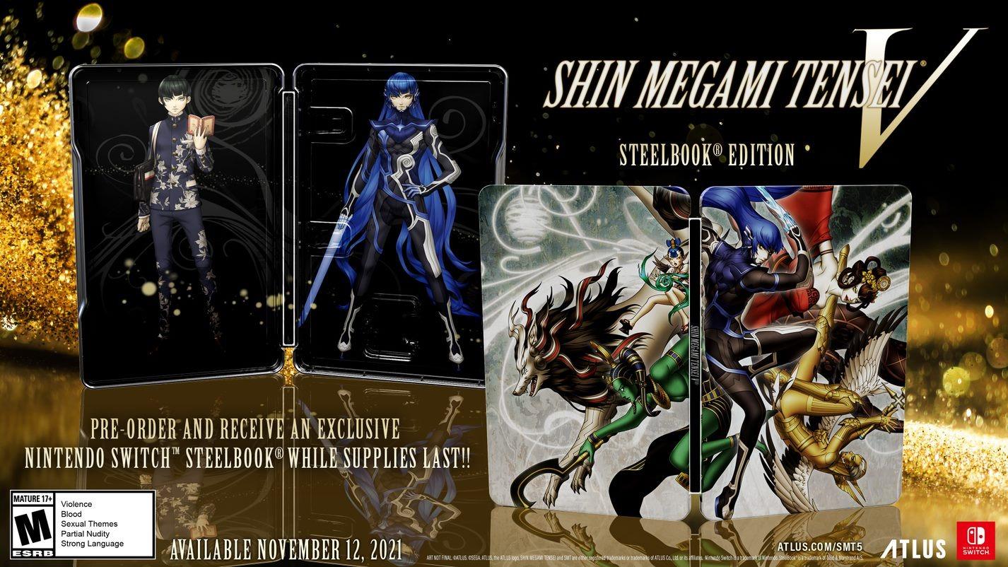 SMT V Steelbook case Shin megami Tensei V