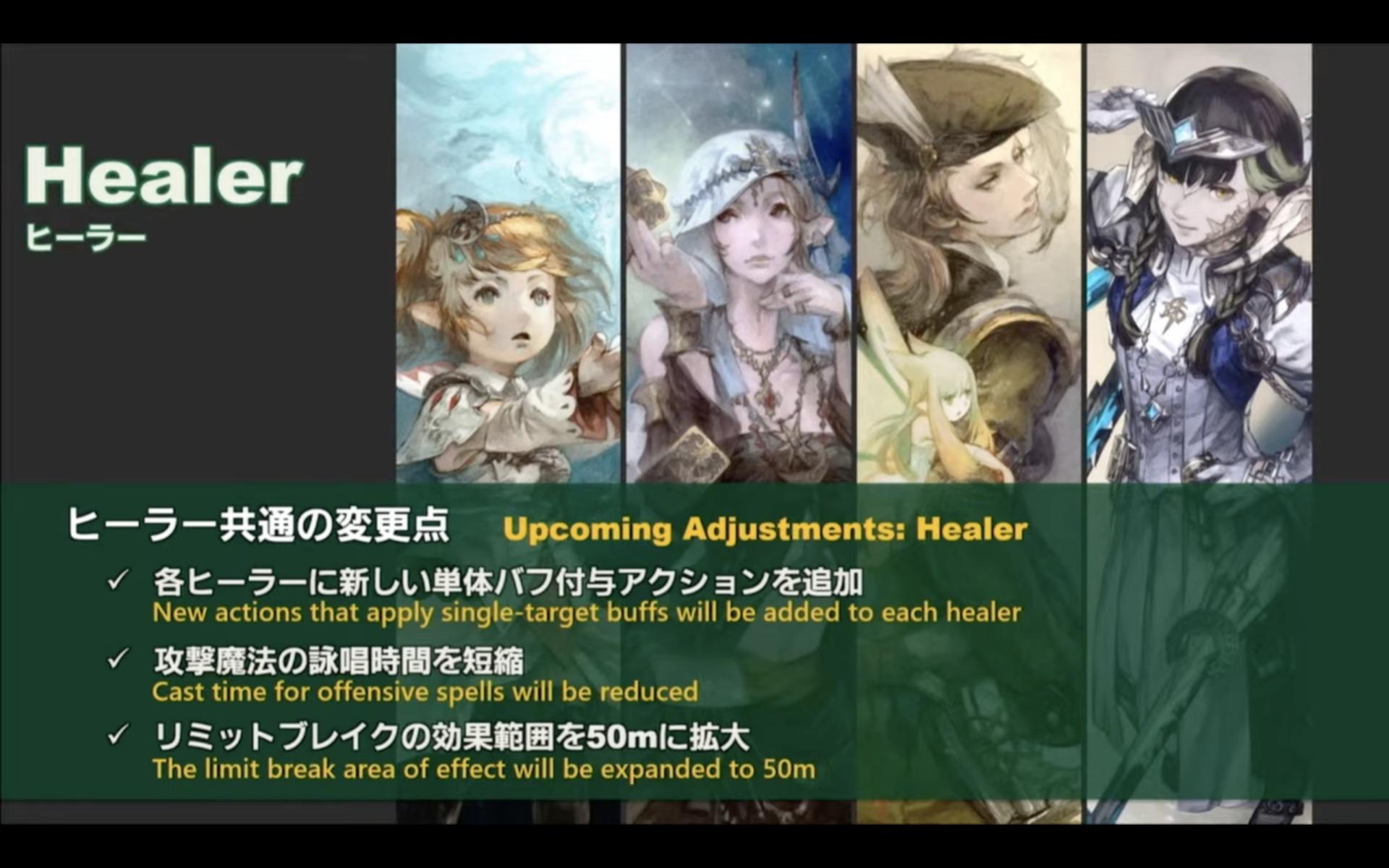 FFXIV Job Changes adjustments healer dps