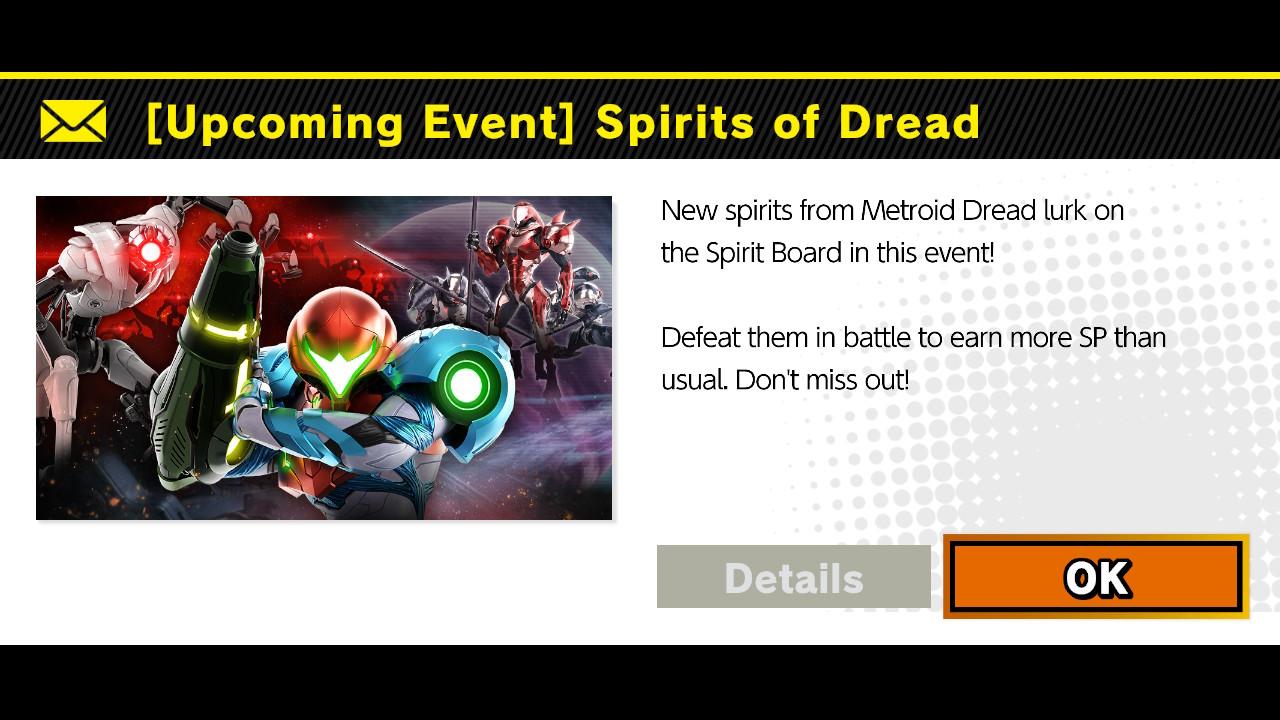 Metroid Dread Super Smash Bros Ultimate Spirits